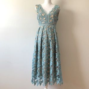 Romeo and Juliet Blue Crocheted Dress